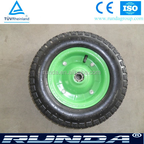 plastic or steel rim with bearing wheelbarrow wheels