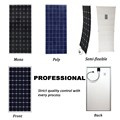 140W - 165W Poly Solar Panel Camping Crystalline Silicon Long Term Output Stability