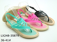 women pvc upper sandals pvc blowing sandals for lady