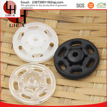 white and black Invisible practical plastic cheap underwear transparent round nylon snap buttons fasteners for skirts