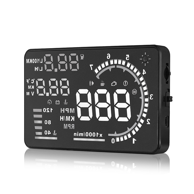 A8 5.5 Inch Car Hud Speed Display Overspeed Warning Hud Projector With Alarm System