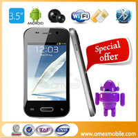 "Unlocked android 2.3 F599 mobile 3.5"" Capative touch screen MTK 6515 mdual sim fm java game phone mobile"