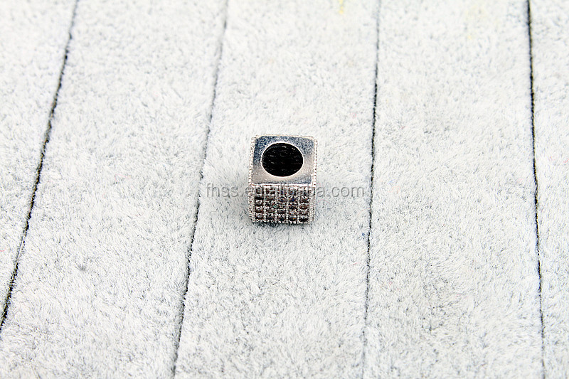 CZ Micro Pave Beads parts,big hole beads,CZ Micro Pave Beads for pendant,FHX7037