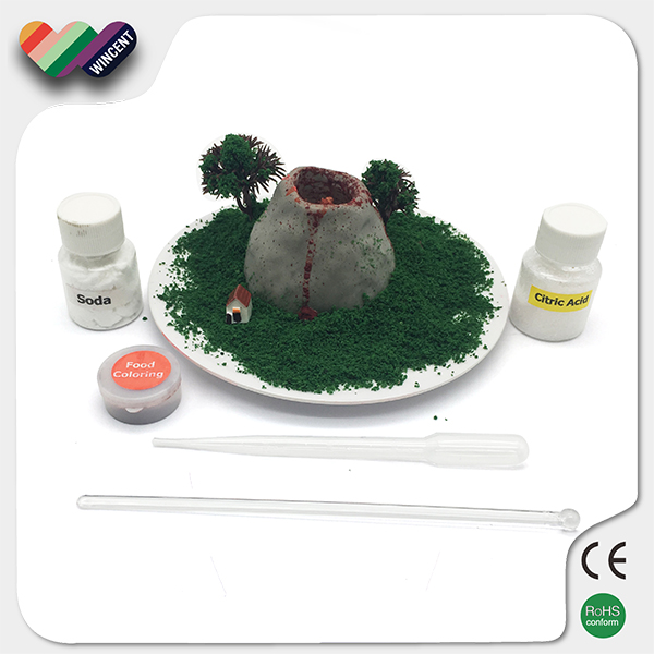 Ceramic Material Science Lesson Educational Toy DIY Volcano