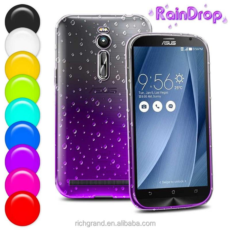 3D Vivid Rain Drops Gradient Color TPU Smartphone Case for Asus Zenfone 2 5 inch Back skin Protective Covers