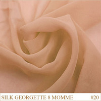 Silk Georgette Fabric 8momme 114cm Width 100 Silk brocade pure silk fabrics manufacturers Pale Pink