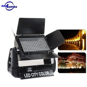Outdoor building projector uplights 180pcs * 3W RGB 3in1 LED city color wash light