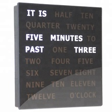 Hot Creative Design Dougs Complete Wording Wall Electronic Kit White Sleek 5 Minutes Clock LED Word Clock in Wall Clocks