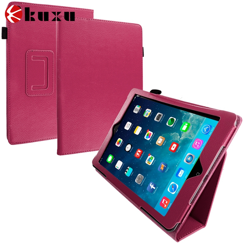 China manufacture for ipad air 2 case, Ultra Slim Leather Magnetic Smart Case Cover