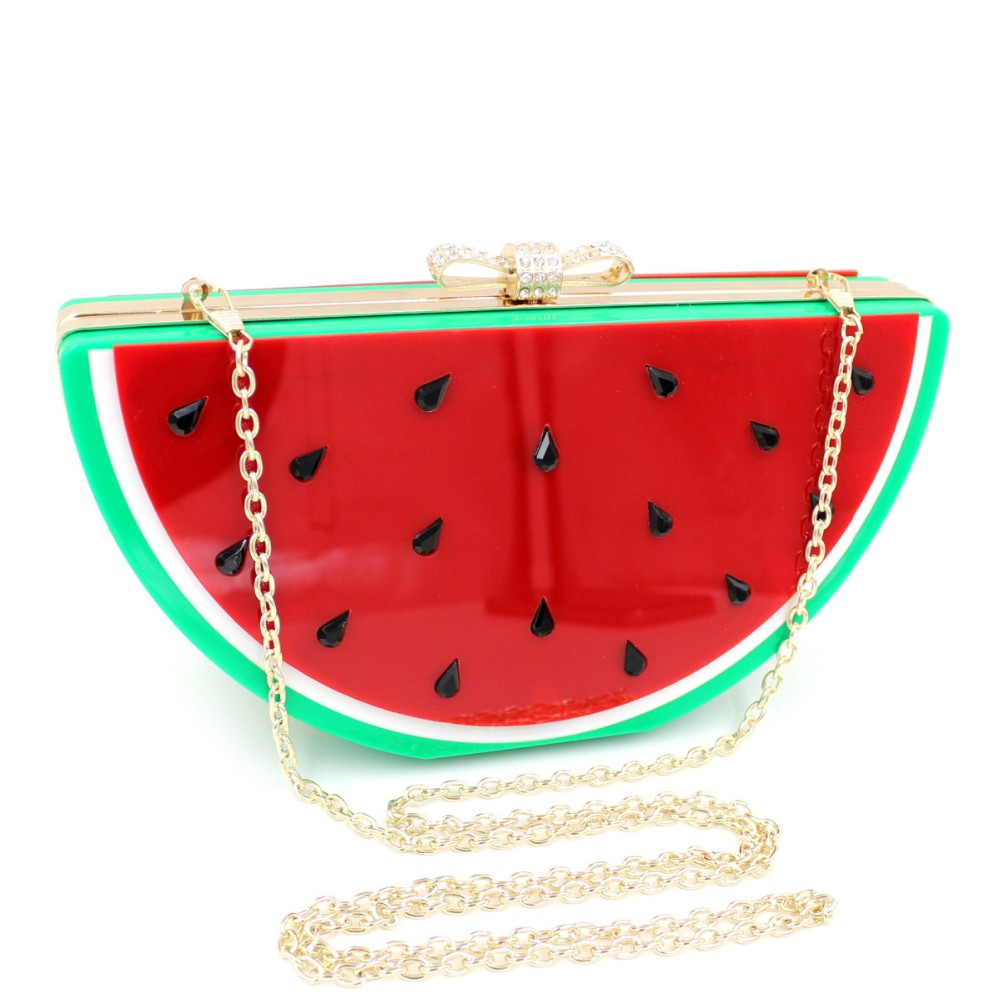 Beautiful Acrylic Clutch Bags Ladies Clutch Purse Acrylic Fruit Clutches
