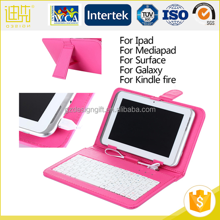 Custom bluetooth keyboard case for iPad for surface for mediapad