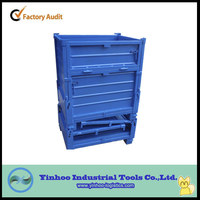 hot sale high quality folding steel box pallet stacking container