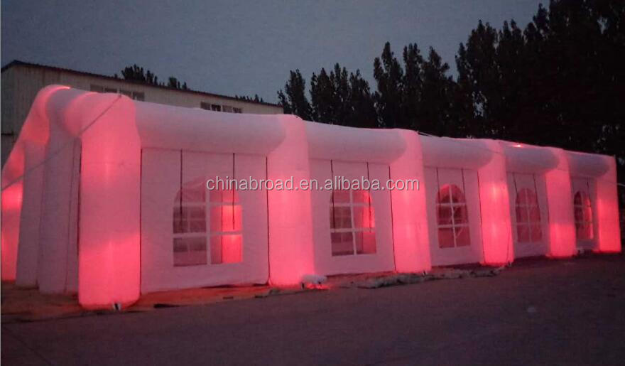 led inflatable party tent