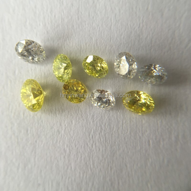 Fancy polished loose CVD HPHT diamond