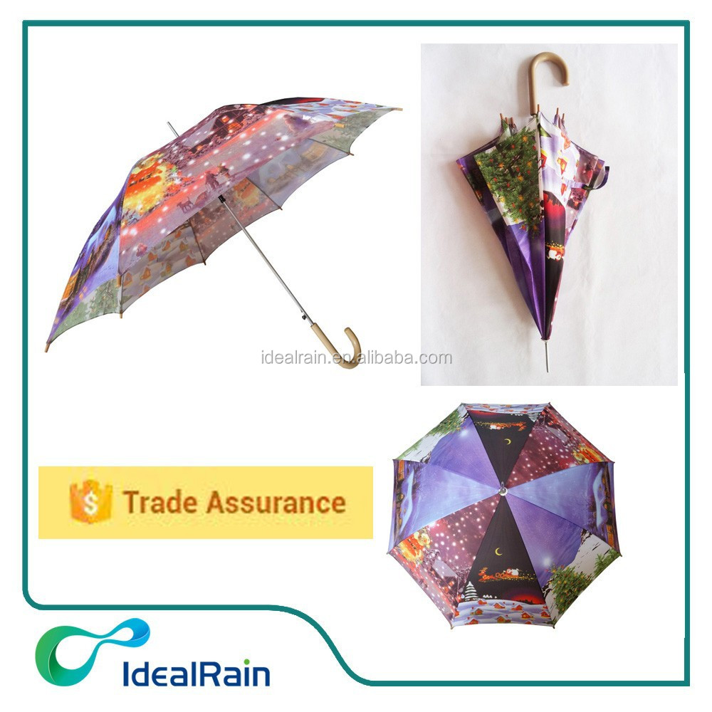 popular straight automatic christmas umbrella