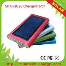 cheap solar charger solar power bank with flashlight