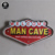 Welcome MAN CAVE Vintage Metal Tin BAR Signs with LED Light for Wall Decoration