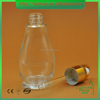 30ml Serum Bottle with pipette dropper Triangle Glass bottle Cone Shape glass bottle