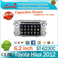 Quad core android 4.4.4 car dvd player for TOYOTA Hilux 2012 support 1024*600 HD