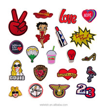 New Fashion Custom Made DIY Cute Iron On Cartoon Embroidered Patch