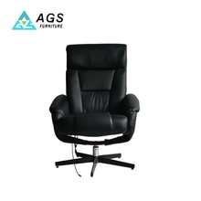 Excellent Technique Home Black PU Recliner Modern Leisure Chair