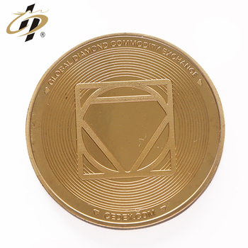 Make your own cheap custom logo engraved gold metal coin