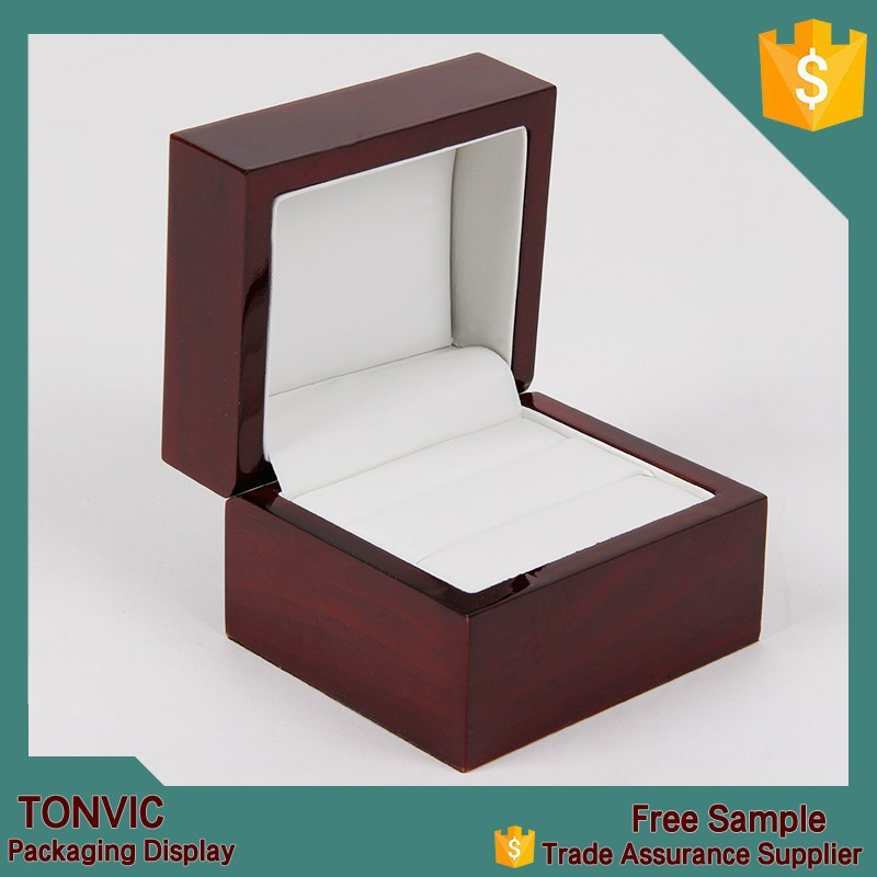 Hot sale luxury wooden ring jewelry box display manufacturer in china