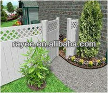 6ftx8ft(1.83mx2.44m)picket top white color Semi-Privacy PVC/Vinyl Plastic Fence/paineis de vedacao em pvc