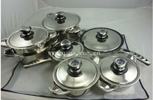hot sales 13pcs stainless steel cooking pots sets/nonstick stainless steel cooware sets