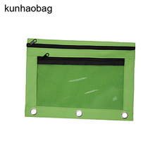 3-Ring binder with pvc Window Pencil Pouch