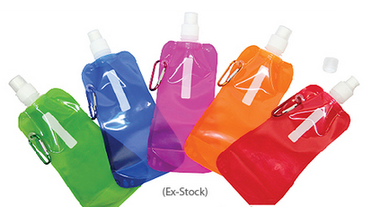 travel water bottle collapsible soft drinking bottle with flip top