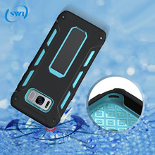 Shockproof Multifunction bracket holder silicon pc protective phone cover case for iphone 8 / Samsung galaxy S8