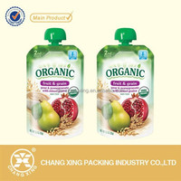 Custom-made poly leak proof juice packaging material spout doypack