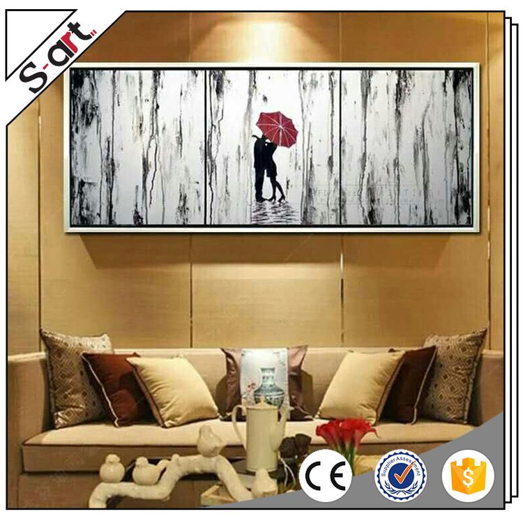 Factory supply customized design modern abstract plant oil painting
