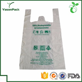 100 Biodegradable Hazard Wholesale Plastic T Shirt Bags