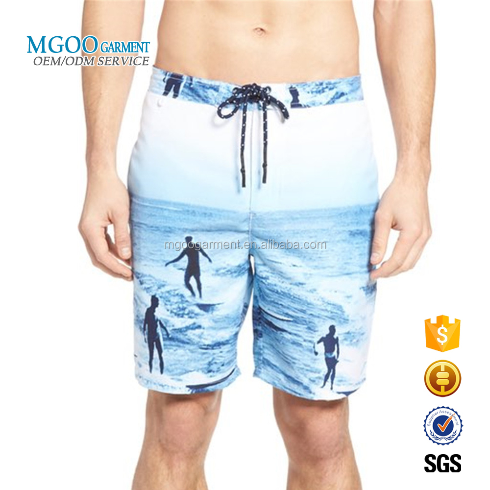 Digital Print Polyester Swim Trunks Sublimation Printed Beach Shorts Custom Swimwear Men