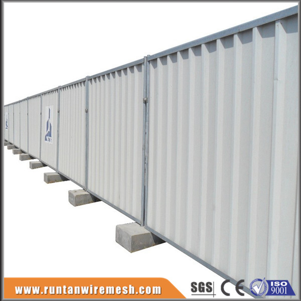 Construction Sites Colorbond Solid Steel Temporary Hoarding