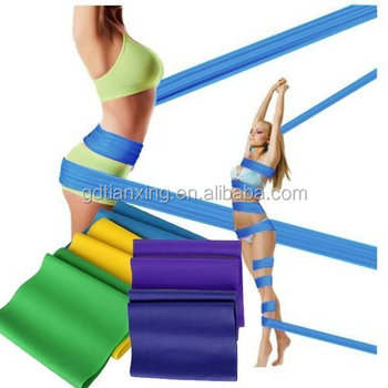 Wholesale Women Yoga Palites Rubber Latex Exercise Ballet Stretch Resistance Band Set