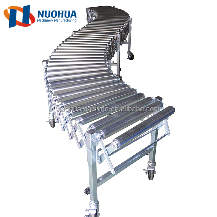 gravity roller conveyor transportation system