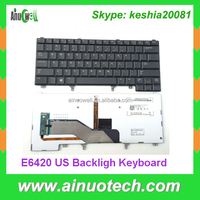 English Laptop Keyboard Backlight for Dell E6420 laptop keyboard replacement US E5420 E6330 E6320 E6220 Backlit with pionter UK