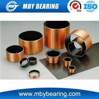 sintered oil copper bearing/sliding bearing/ sleeve slide bimetal bronze steel bushing