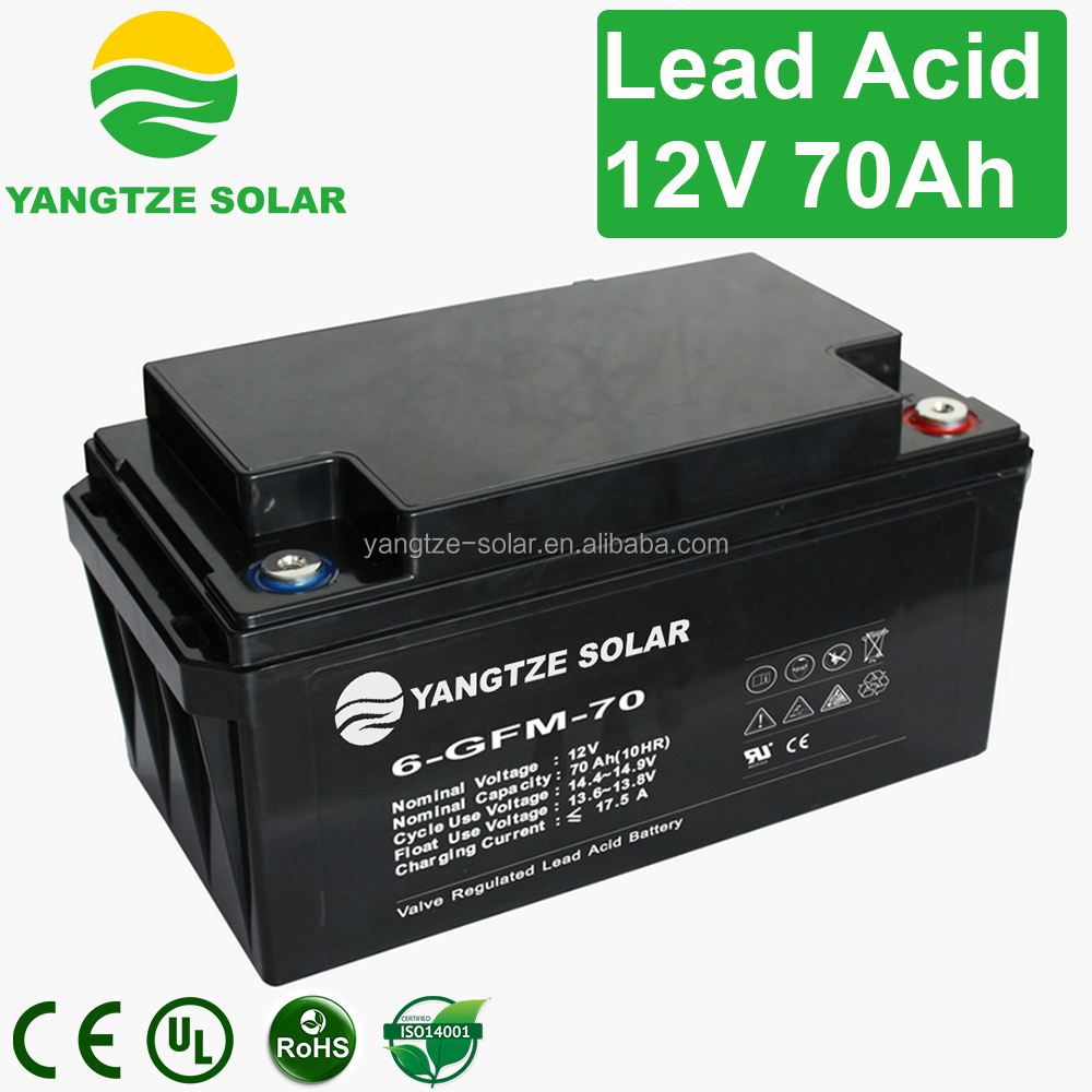CE ISO UL approved 12v 70ah exide battery