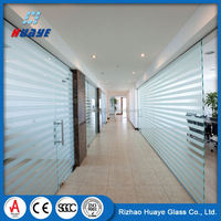 High Quality decorative toughened frosted glass shower room door