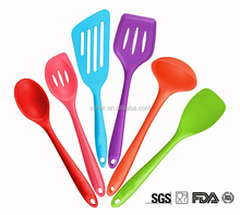 Wholesale custom design colorful food grade heat resistant silicone kitchen utensil set