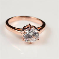 rose gold engagement rings made with Chinese 3A zircon