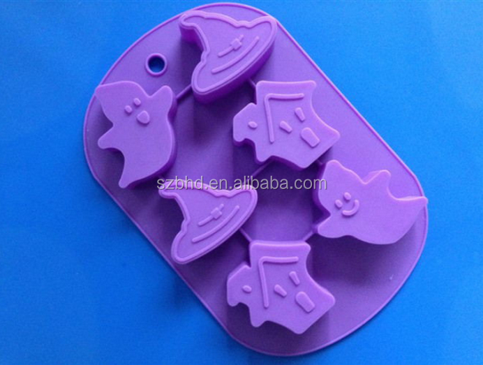 Nonstick Halloween Pumpkim Witch Hat Silicone Cake Molds for Cake Decorating