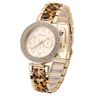 Aliexpress and Ebay Hot Fashion Quality Alloy Geneva Ladies Vogue Leopard Watch