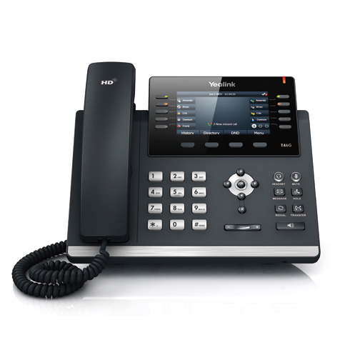 Yealink - SIP-T46G Ultra-elegant Gigabit IP Phone