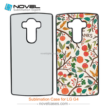Custom printed 2D sublimation phone case for LG G4