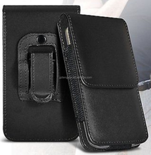 Premium PU Leather Vertical Belt Flip Pouch Holster Case Clip For Mobile Phones
